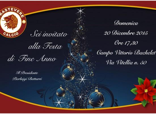 La Festa di Natale del Trastevere Calcio.