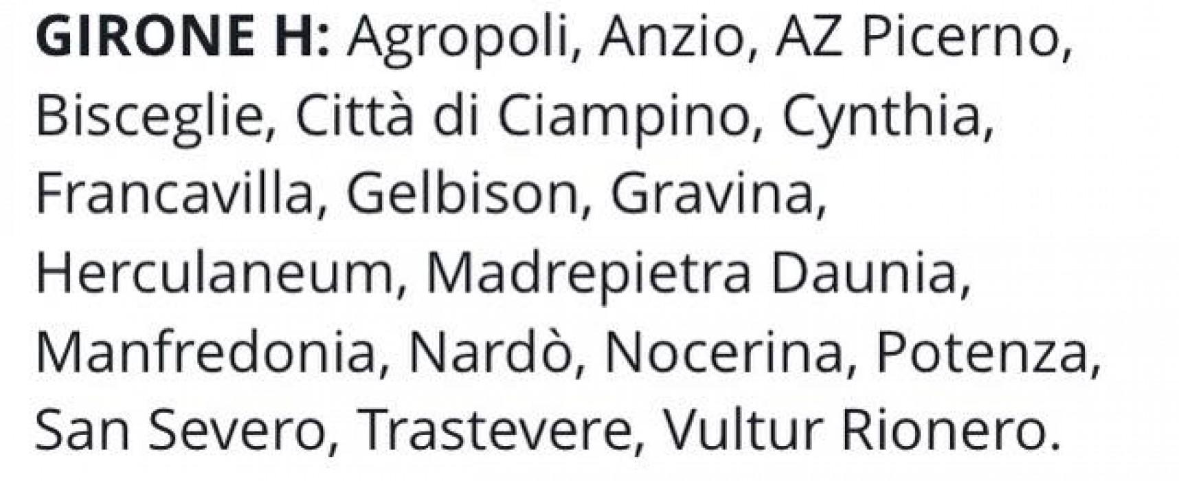Il Trastevere nel girone H di Serie D.