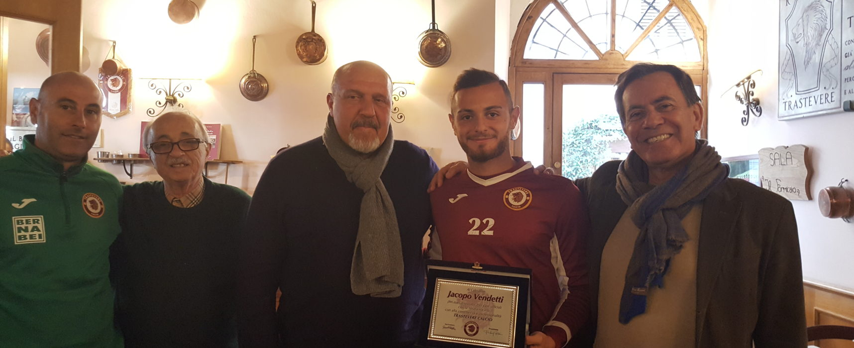 Jacopo Vendetti, 100 presenze con la maglia del Trastevere