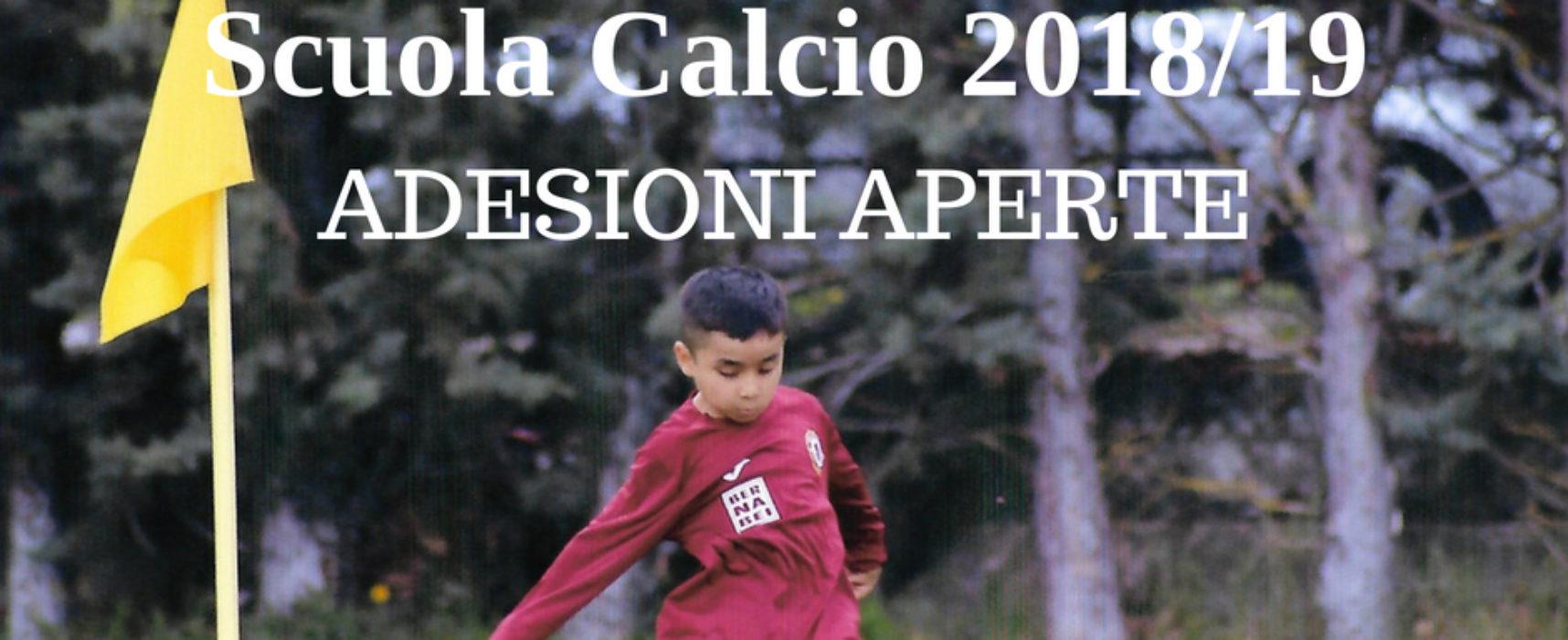Scuola calcio 2018-2019, via alle adesioni!