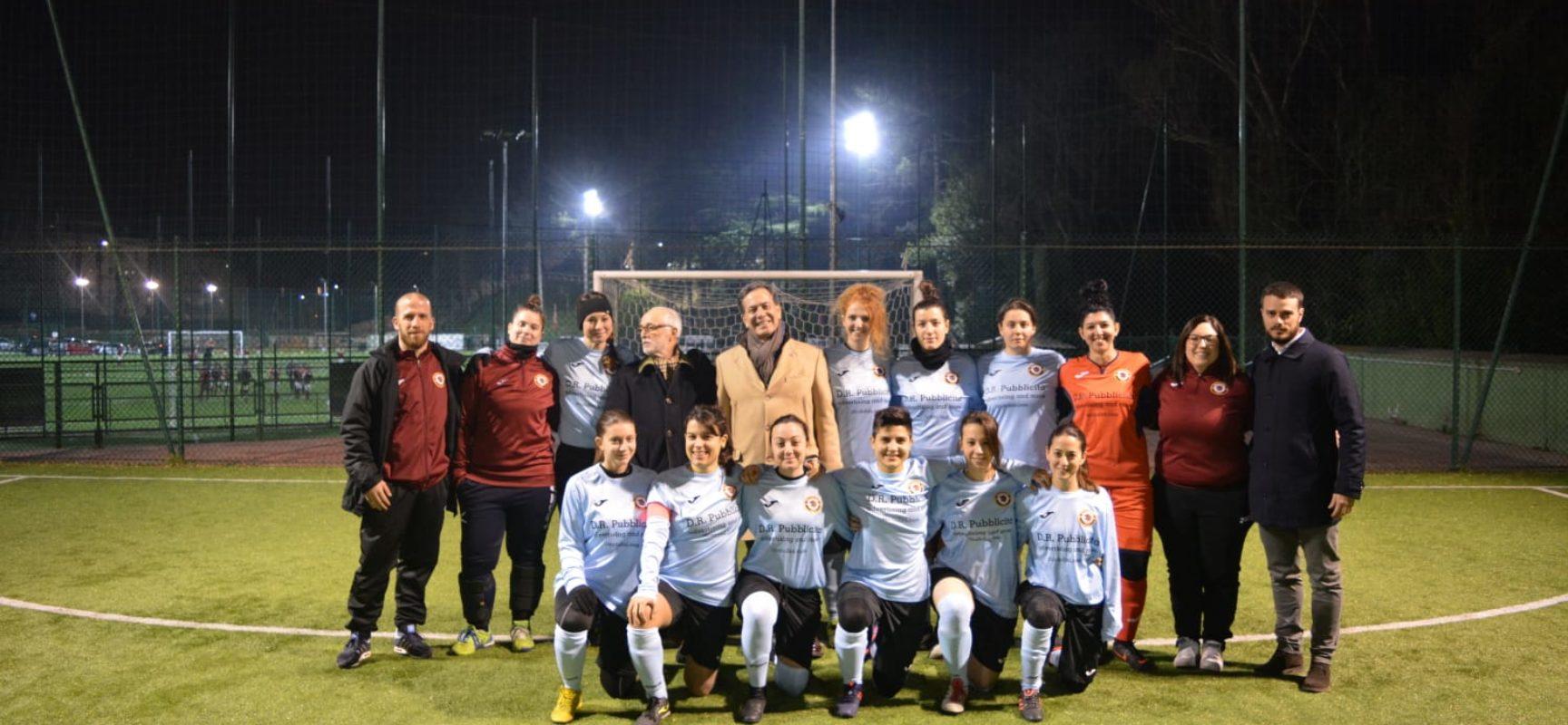 TRASTEVERE FEMMINILE, 7-1 AL FIUMICINO E VISITA DEL PRESIDENTE