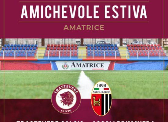 RITIRO 2019: DOMANI AD AMATRICE ALLE 17.00 L'AMICHEVOLE CON L'ASCOLI PRIMAVERA